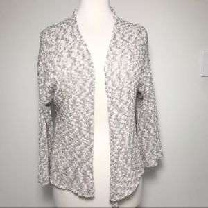 Eileen Fisher Boucle Knit Open Front Cardigan